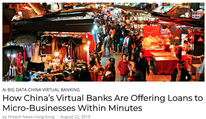 Fintech News Hong Kong 2019 How China S Virtual Banks Are Offering Loans To Micro Businesses In 2020 Fintech Bank For International Settlements Financial Inclusion