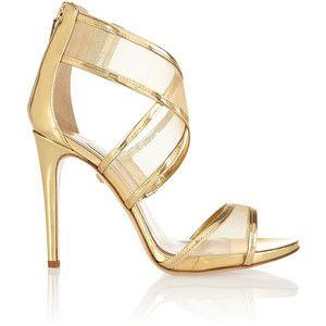 New Concept Diane Von Furstenberg Leather Sandals Black Mesh Jules And