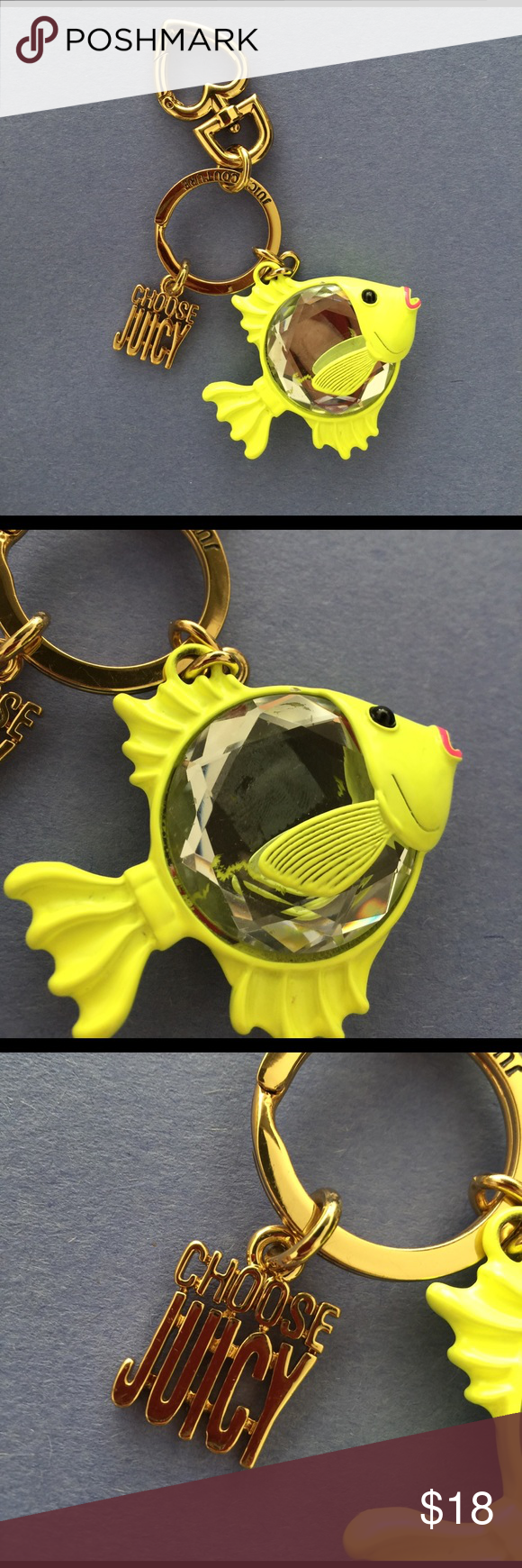 JUICY COUTURE BAG CHARM Bag charm Juicy Couture Accessories Key & Card Holders