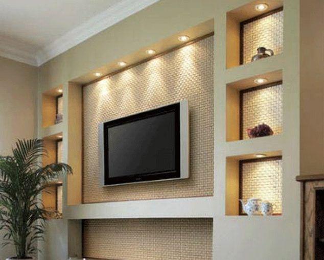 16 Sensational Gypsum Wall Decoration That You Will Definitely Love Living Room Tv Wall Living Room Tv Tv Wall Design