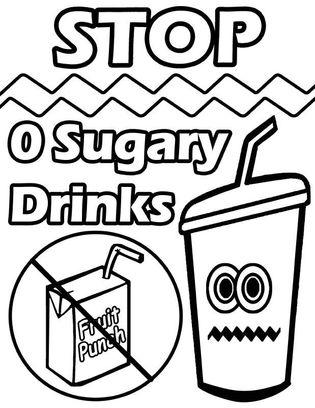 Healthy Drinks Colouring Pages Tropical Drink Coloring Pages Drinks