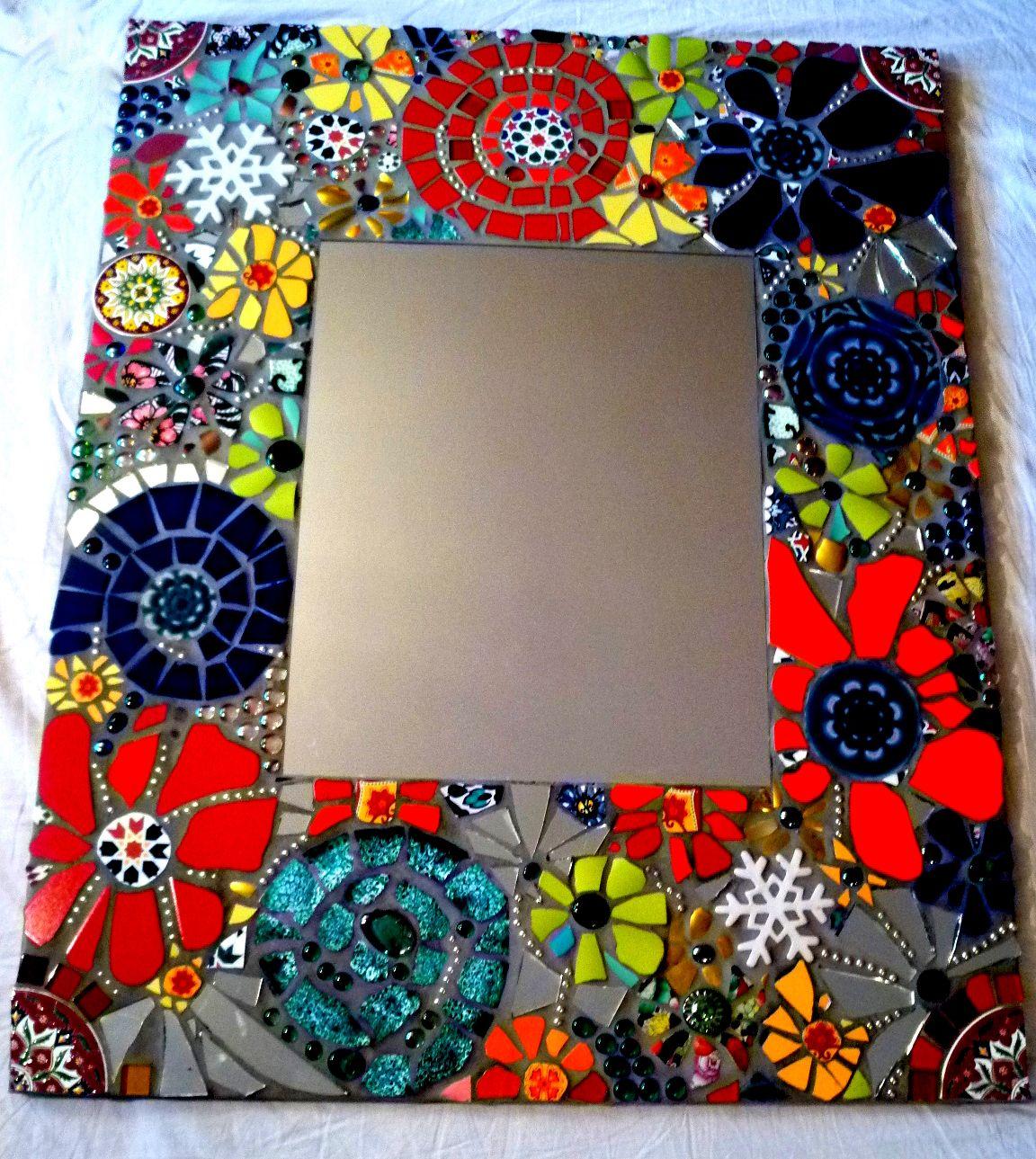Mosaikspiegel mosaika mosaic mirror mosaic und mosaic art - Mosaiksteine spiegel ...