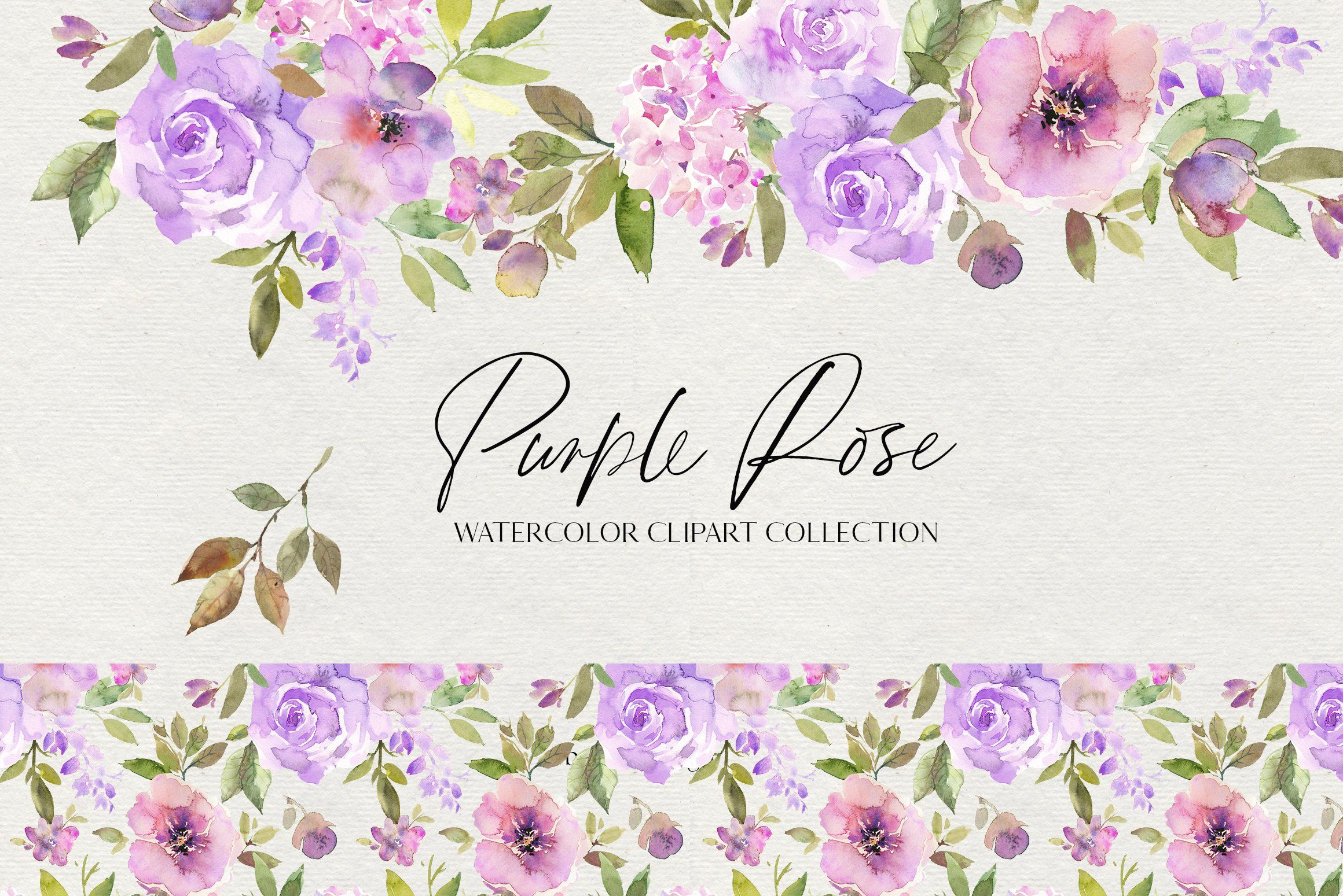 Purple Rose Watercolor Flowers Png Watercolor Rose Watercolor