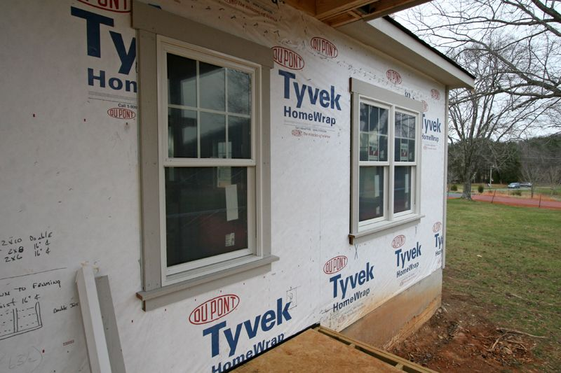 Craftsman Exterior Door Trim The Hvac Crew Also Got Started Running The Ductwork On Thursday