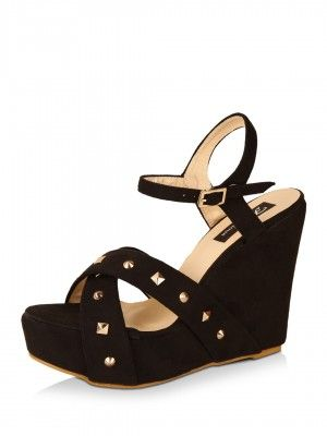 85d352fe064b Footilicious Stud Embellished Wedges purchase from koovs.com Clothing  Ideas