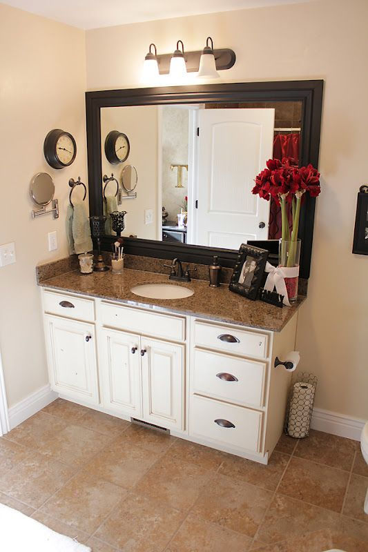 Frame Bathroom Mirrors And Paint To Match Cabinets Apartment