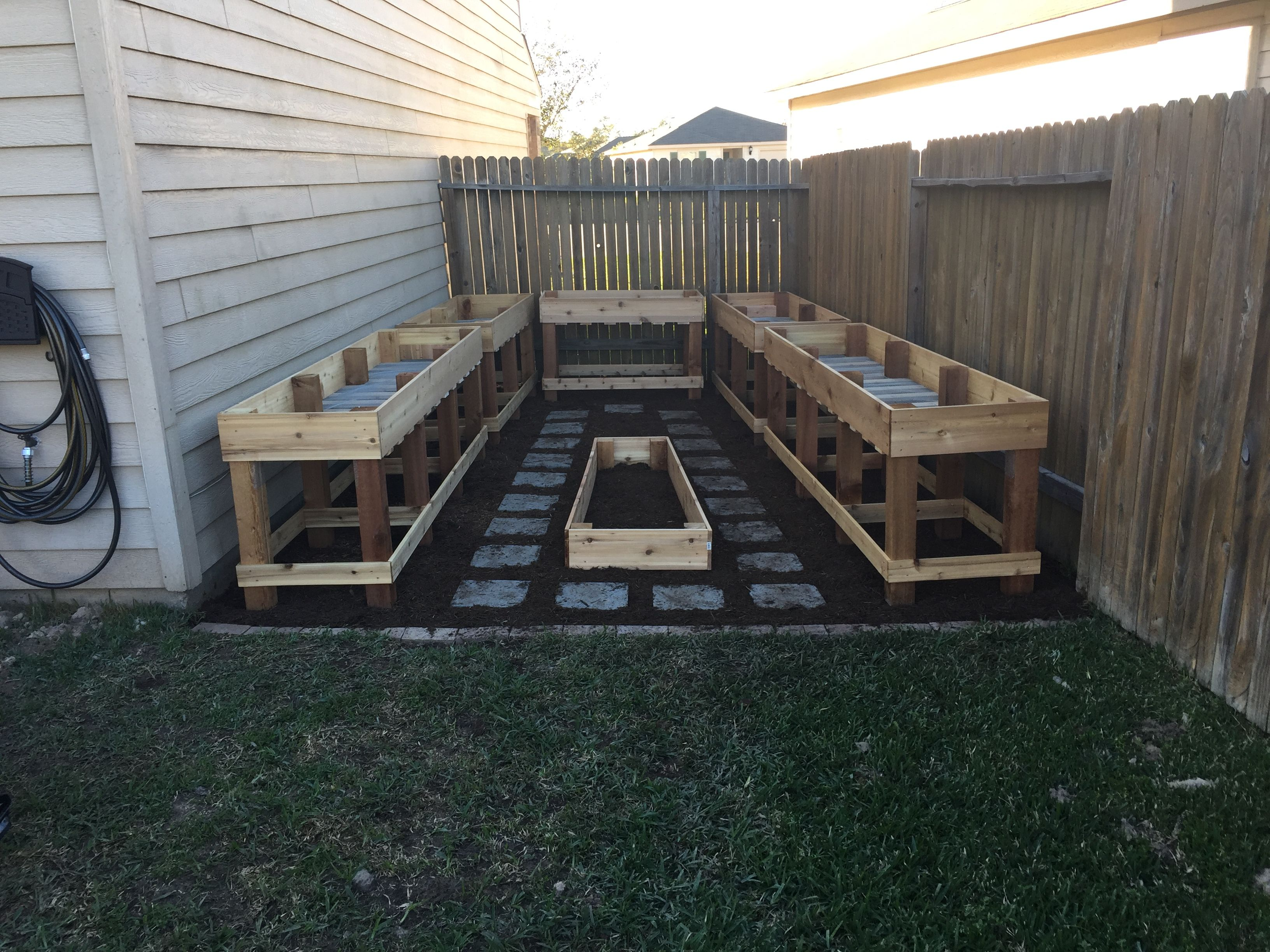 ana white custom counter height garden boxes diy projects - Garden Boxes Diy