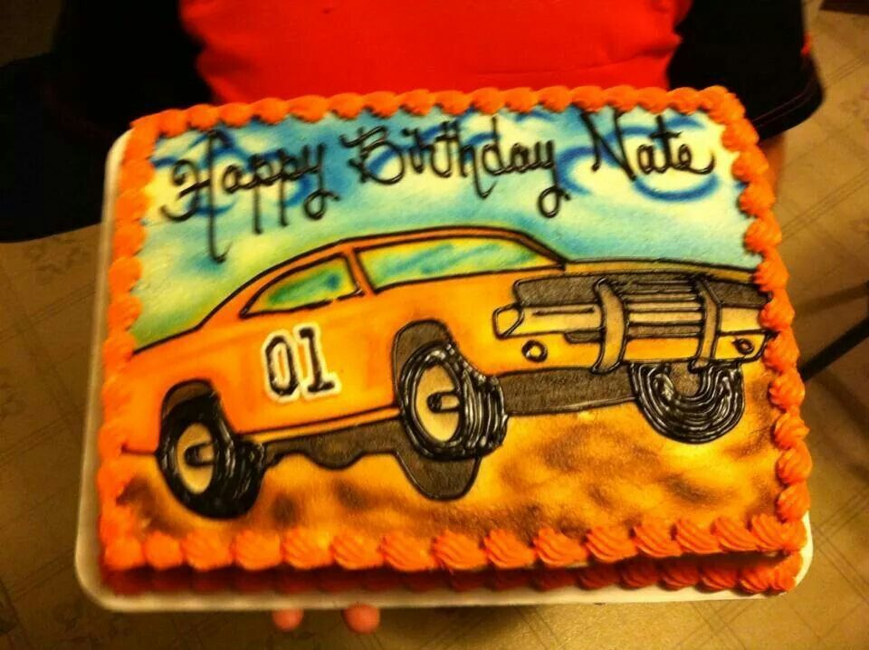 Dukes Of Hazzard Cake With Images 90th Birthday Cards Vintage