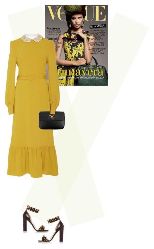 """""""."""" by fashionmonkey1 ❤ liked on Polyvore featuring CO, Elie Saab and Prada"""