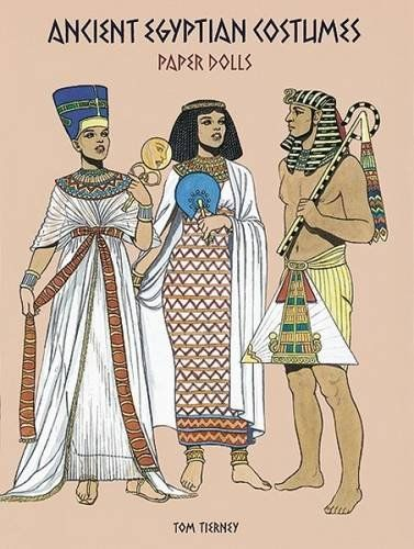 Ancient Egyptian Costumes Paper Dolls (Dover Paper Dolls) by Tom Tierney http://www.amazon.com/dp/0486295850/ref=cm_sw_r_pi_dp_jHz8wb1SRNH4S