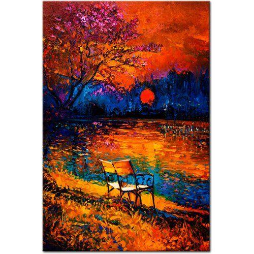 Farben des Herbstes Grafik auf verpackter Leinwand East Urban Home Größe: 120 cm H x 80 cm B x T