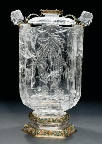 Dionysio Miseroni, silver-gold mounts by Hanns Reinhardt Taravell – Vase in rock crystal, Prague, 1651-1653 - A.lain R. T.ruong