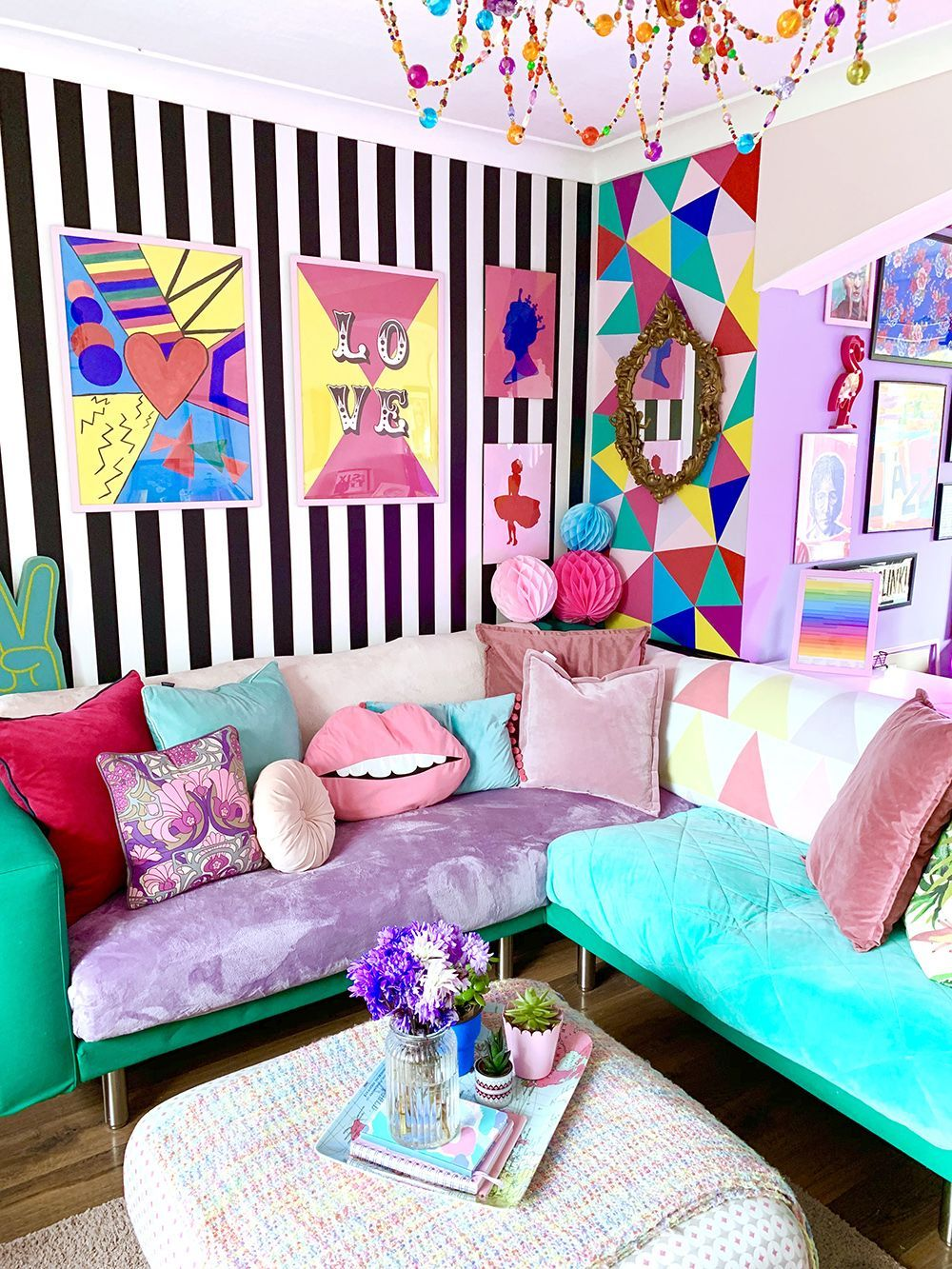 House Tour: A Crazy and Colourful Pop Art Inspired Rental ...