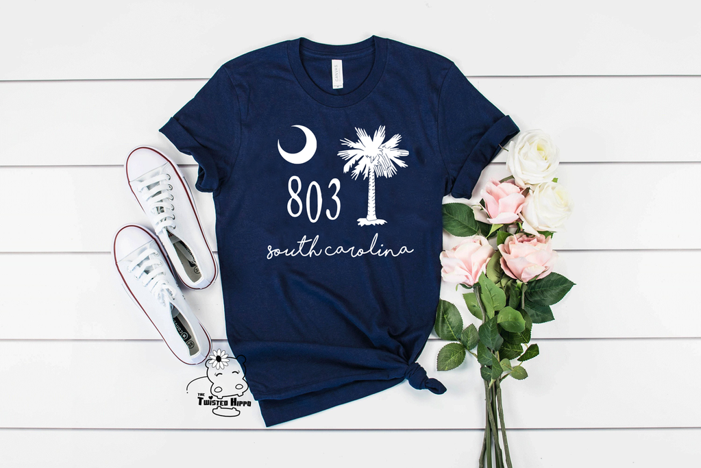 803 South Carolina Unisex Navy Tshirt T shirts for