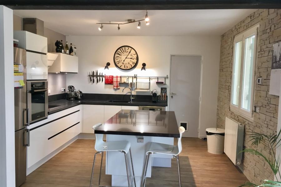 cuisine client} cuisine blanche moderne avec ilot central de socoo ... - Plan De Cuisine Moderne Avec Ilot Central