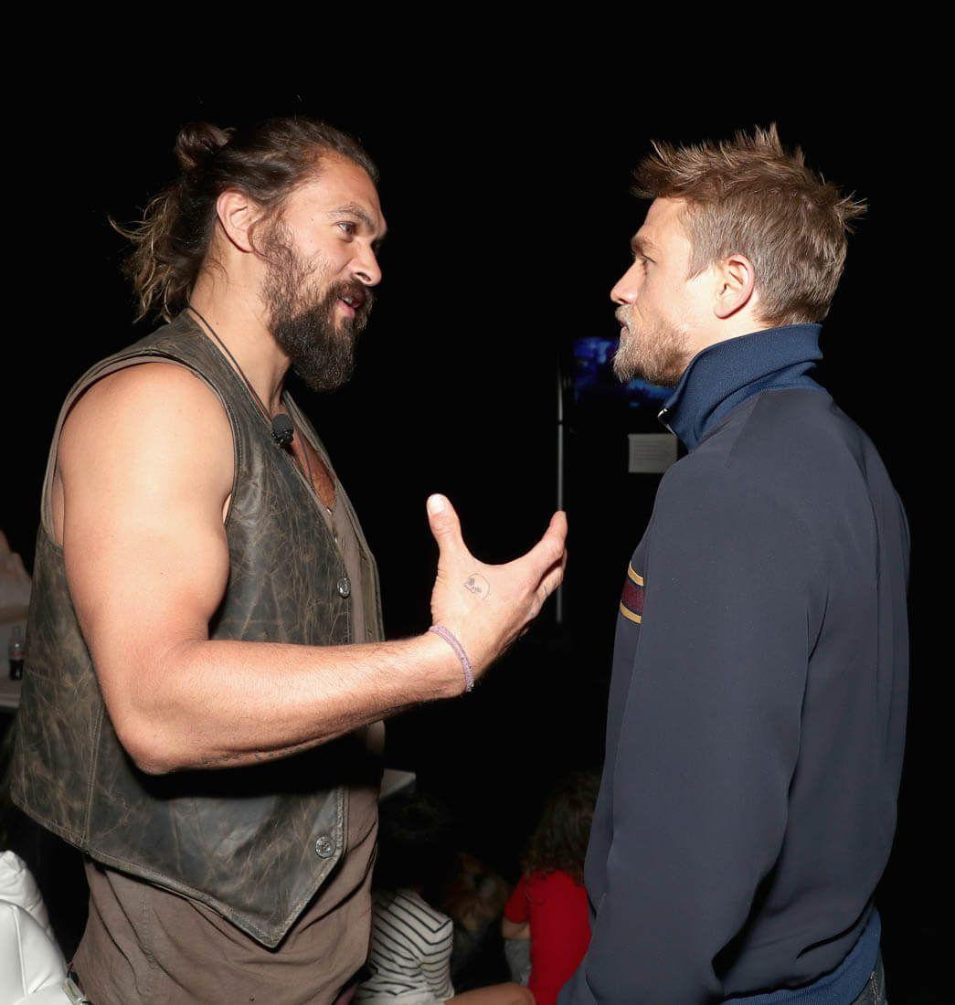 Jason Momoa And Charlie Hunnam At CinemaCon 2017, Las