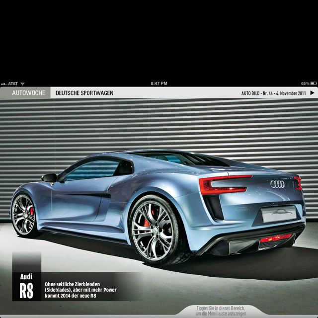 The Planned Audi R8 Redesign For 2014 Looks Amazing. 음