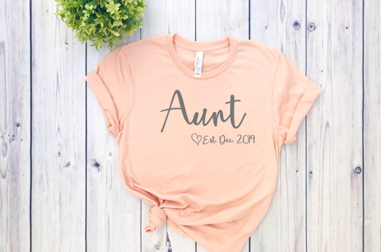 Aunt shirt, Pregnancy announcement shirt for aunt, best aunt ever shirt, going to be an aunt announcement shirt, gender reveal shirts