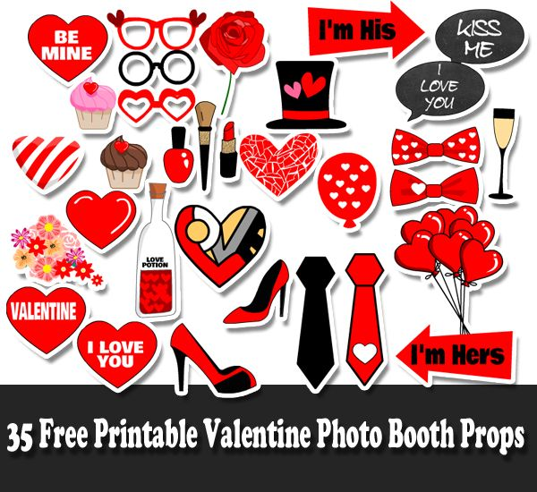 Free Printable Valentine S Day Photo Booth Props Photo Booth Props Free Printables Photo Booth Props Free Valentines Printables Free
