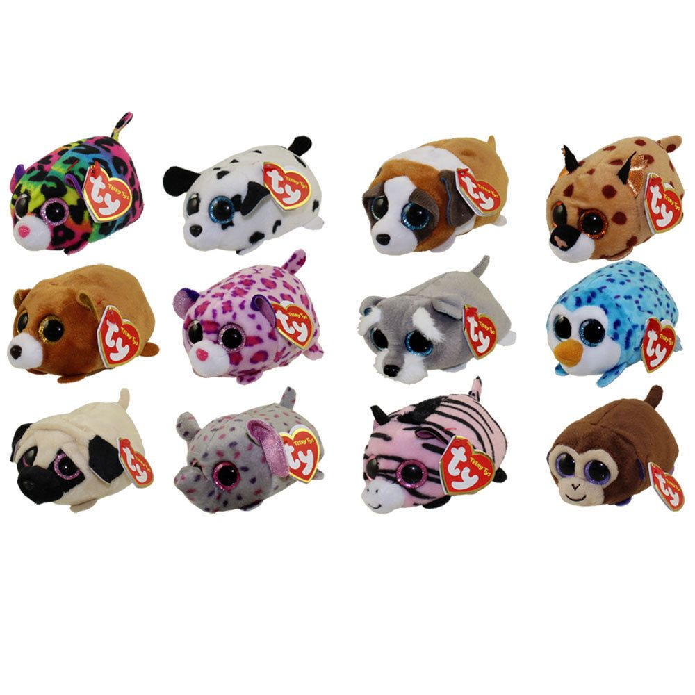 fedad51a917 Current 165959  Ty Beanie Boos - Teeny Tys Stackable Plush - Set Of 12 (4 )  - With Heart Tags -  BUY IT NOW ONLY   39.99 on eBay!