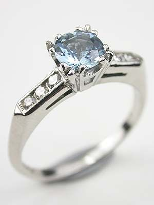 Aquamarine Engagement Ring With Fishtail Setting Rg 3352 In 2018