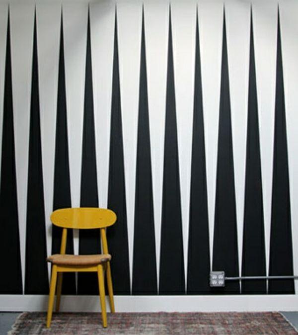 Wände Streichen Ideen   Weiß Und Schwarz   62 Kreative Wände Streichen Ideen  U2013 Interessante Techniken