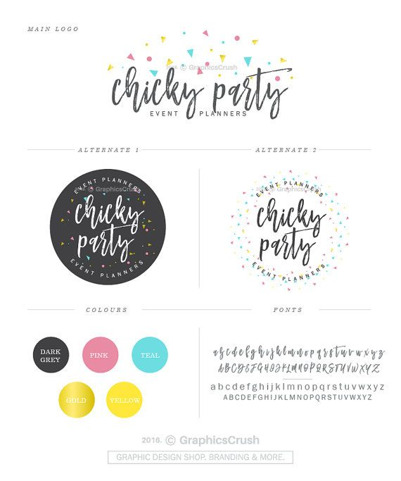 Logo Design Package Party Planner Logo Event Planner Logo Party ...