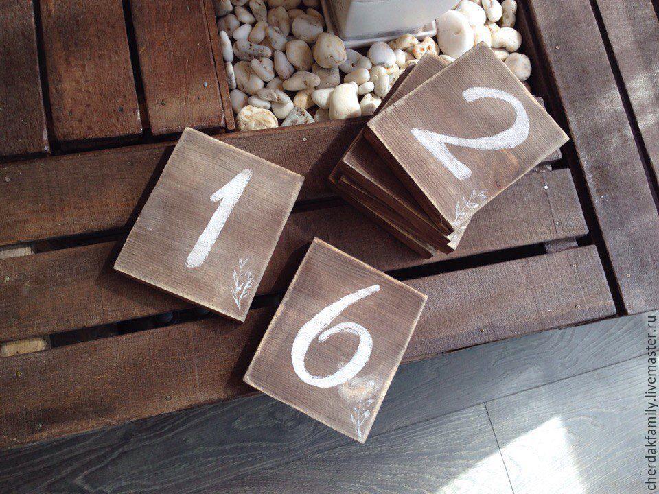 Цифры на свадьбу на стол