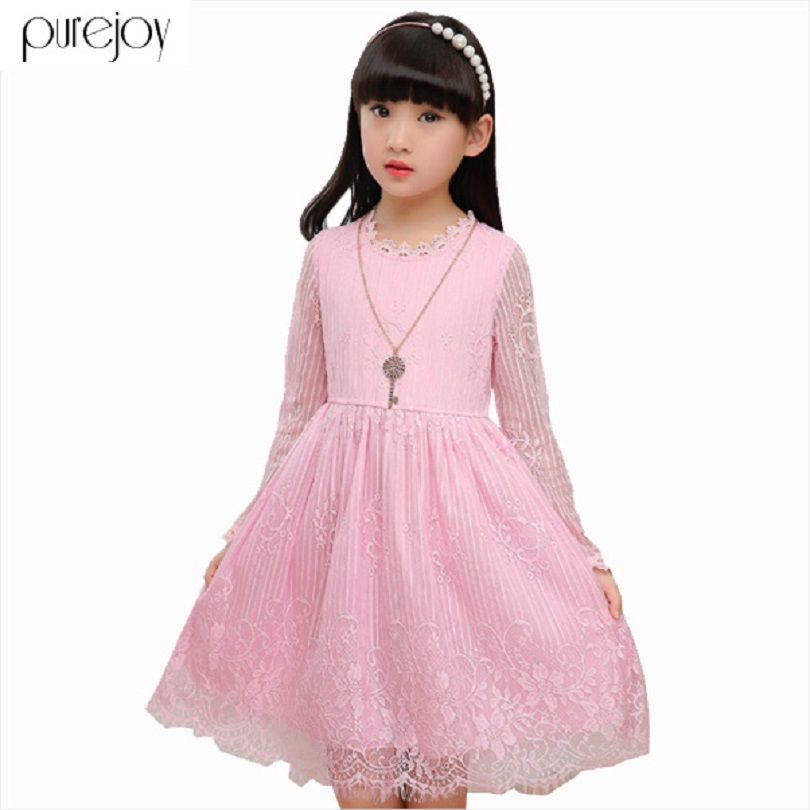 Click to Buy << Lace Dresses For Children Princess Party Dresses ...
