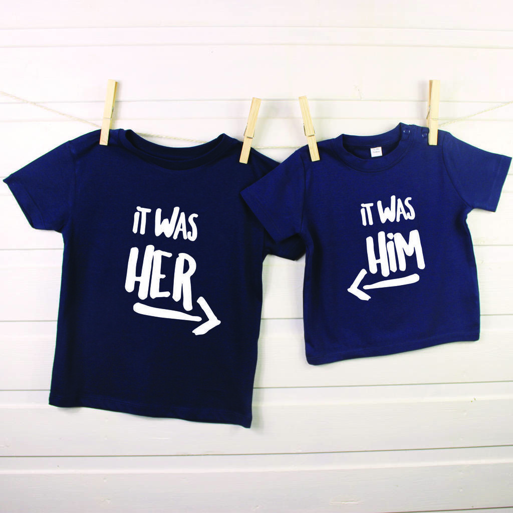959baa09890fc It Was Him! / It Was Her! Sibling Rivalry T Shirt Set | cricut ideas ...