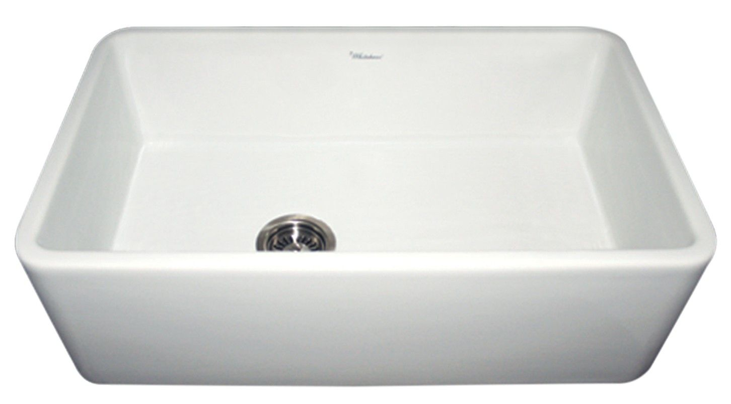 """Whitehaus fireclay sinks are handmade from all-natural clay and lead-free materials. These sinks are incredibly durable and resistant to scratches, chips, stains and extreme temperatures, not to mention their simple maintenance. The WH3018 Farmhaus Fireclay Duet Series sink comes in four finishes – white, biscuit, black and sapphire blue. It measures at 30"""" x 18"""", making it the ideal size for all your kitchen needs. The sink has a smooth front apron, which transforms the look of your…"""