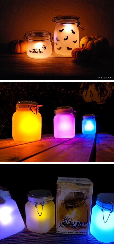 20 Diy Solar Light Craft Ideas For Home And Garden Lighting In 2020 Solar Light Crafts Solar Lights Diy Diy Solar