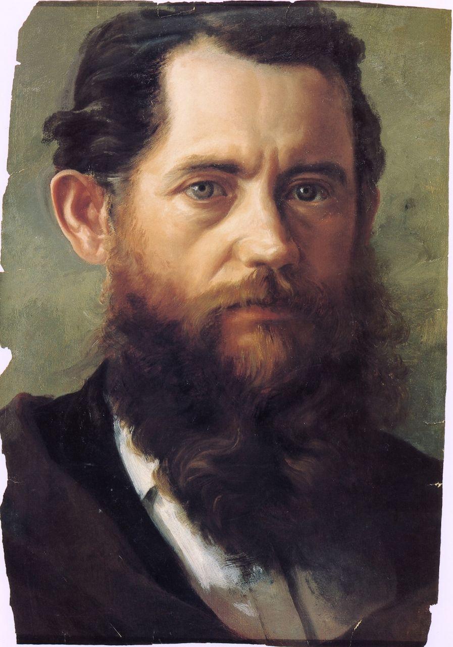 Self Portrait Jose Maria Velasco Beard Art Art Mexican Artists