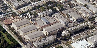 bing maps aerial of fox studios in century city