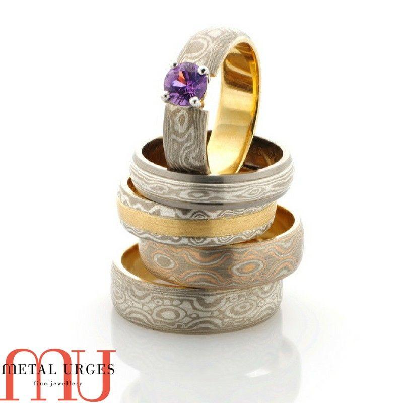 Engagement Rings Hobart: Mokume Gane Image By Metal Urges Fine Jewellery