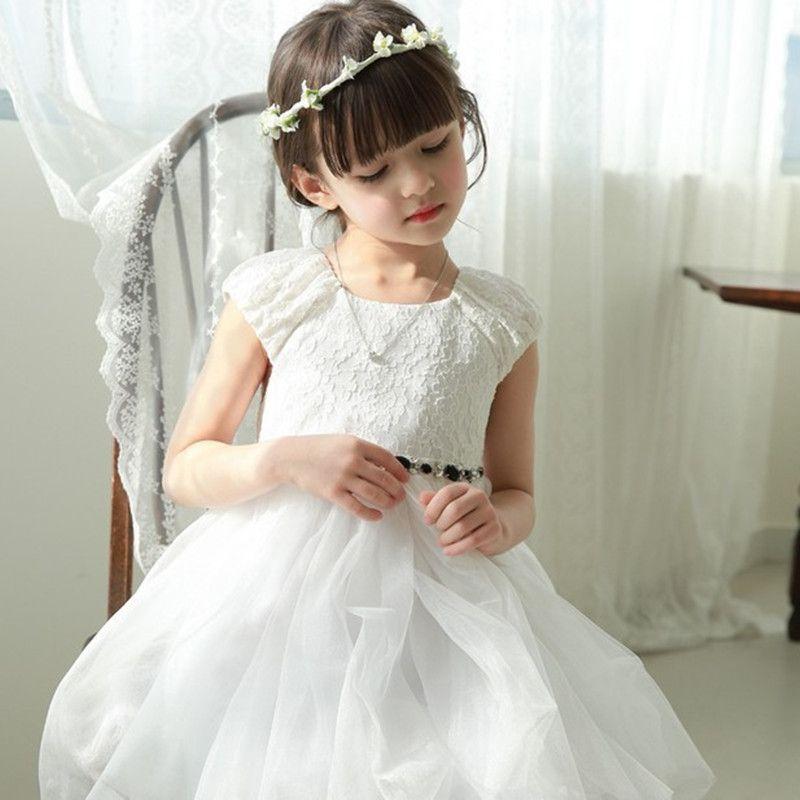 2016 Brand Girls Summer  Lace Princess Dress Girls Beautiful Short Sleeve  Girls School Lovely Beautiful Voile Dress Hot Sale #Affiliate