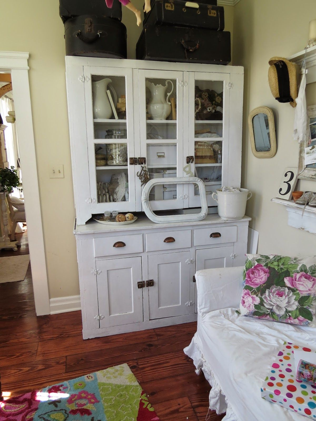Celebrating Spring In The House Vintage Cupboard House Cabinet