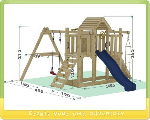 wickey spielturm little robin kletterturm mit schaukel und. Black Bedroom Furniture Sets. Home Design Ideas