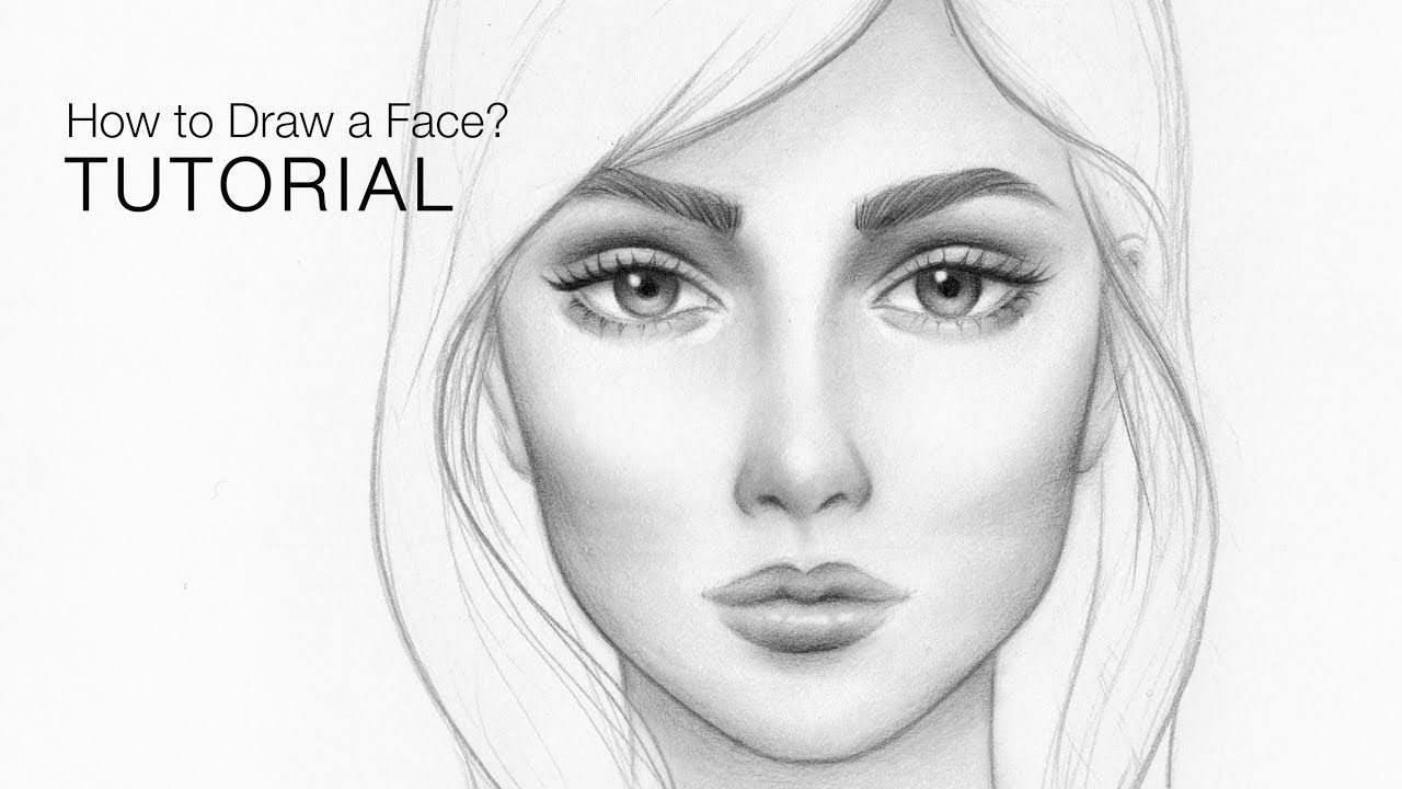 How to draw faces for beginners easy shading tutorial