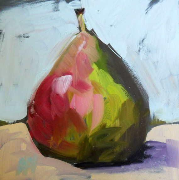 Pear Still Life Original Painting By Moulton Art Painting Painting