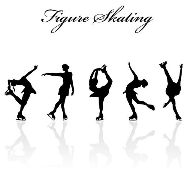 Free Figure Skating Silhouette Set Vector Titanui Figure Skating Quotes Figure Skating Skating Quote