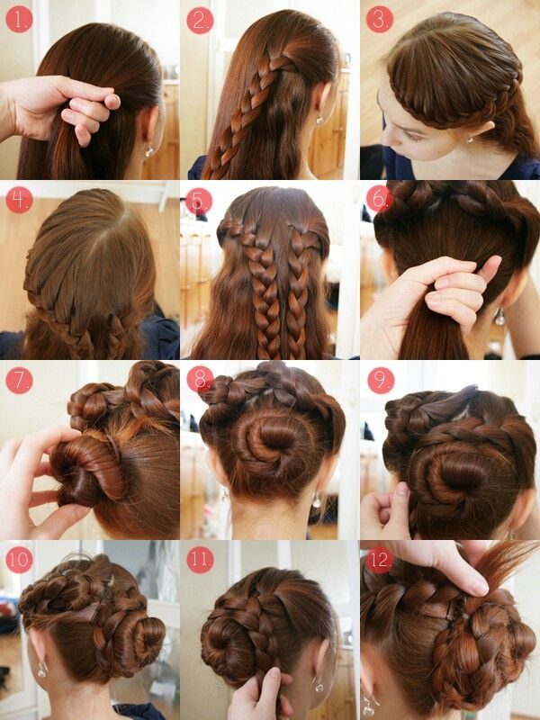 Braid Tutorial Long Hair Styles Thick Hair Styles Braided Hairstyles Updo