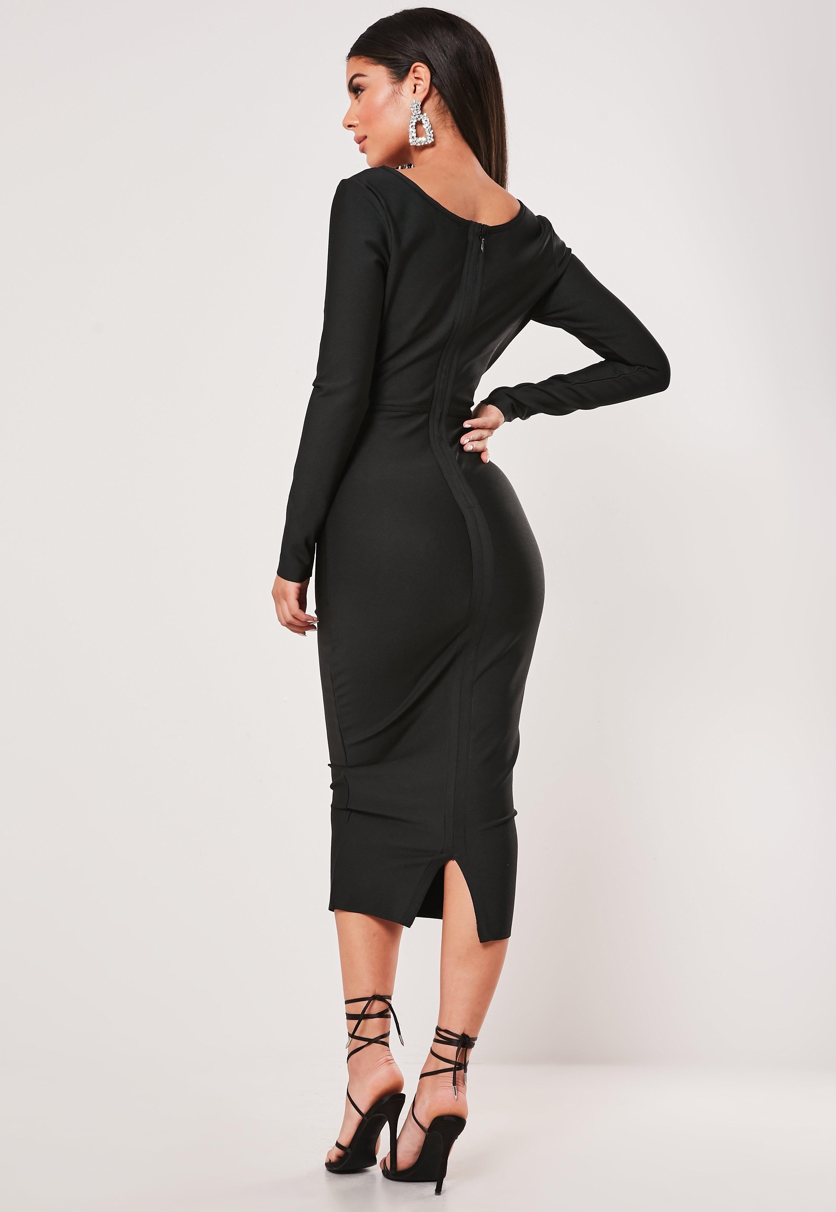 Premium Black Long Sleeve Bandage Corset Midi Dress Sponsored Long Affiliate Sleeve Premium Long Sleeve Bandage Dress Corset Midi Dress Petite Outfits [ 4200 x 2900 Pixel ]