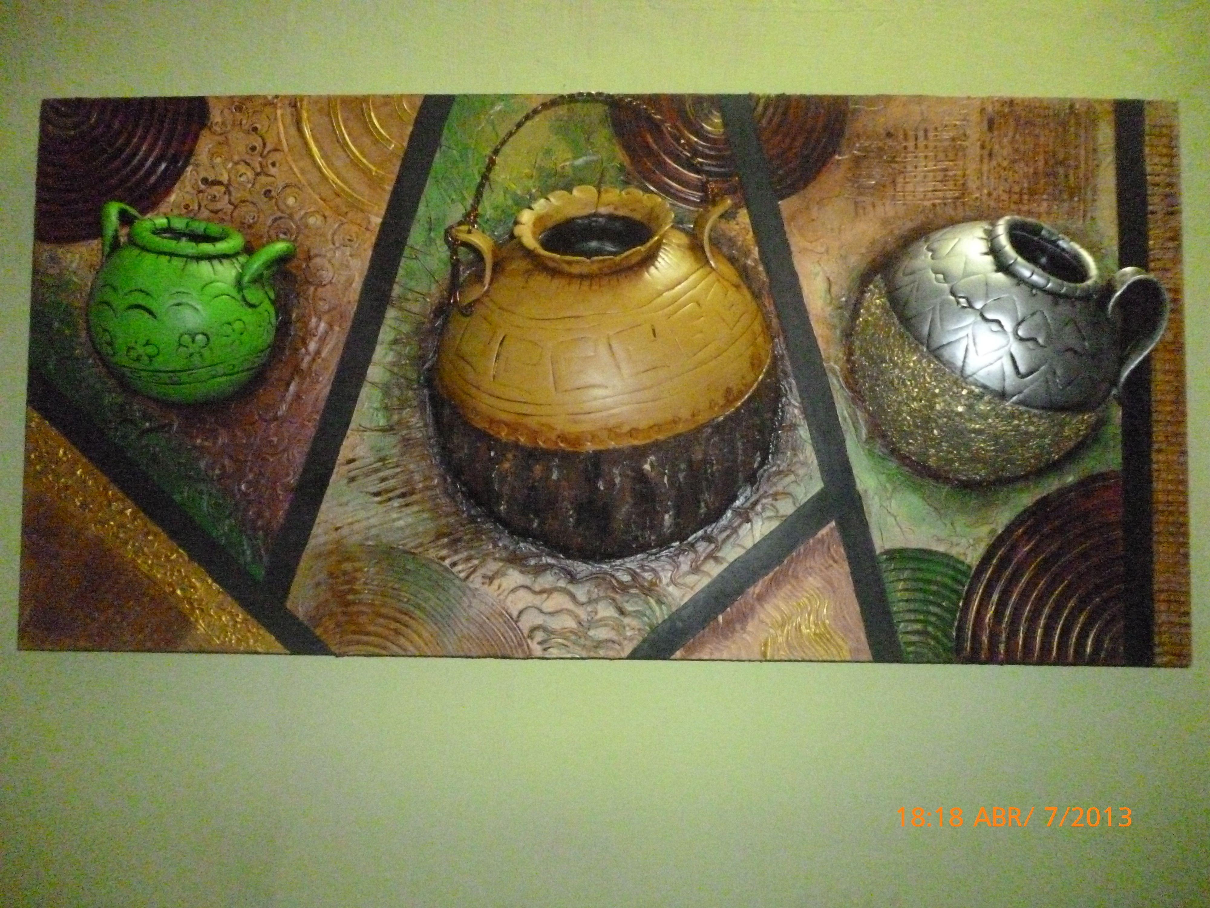 Cuadros artesanales en alto relieve buscar con google for Pintura decorativa efeito 3d