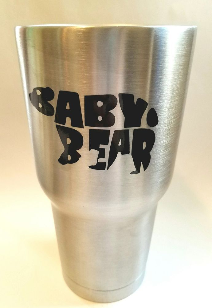 Baby bear word wall decal ozark tumbler ozark trail decal yeti tumbler decal sporting goods