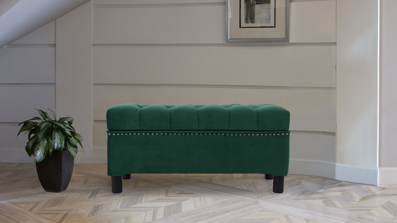 Magnificent Renee Tufted Storage Bench Evergreen In 2019 Storage Gamerscity Chair Design For Home Gamerscityorg