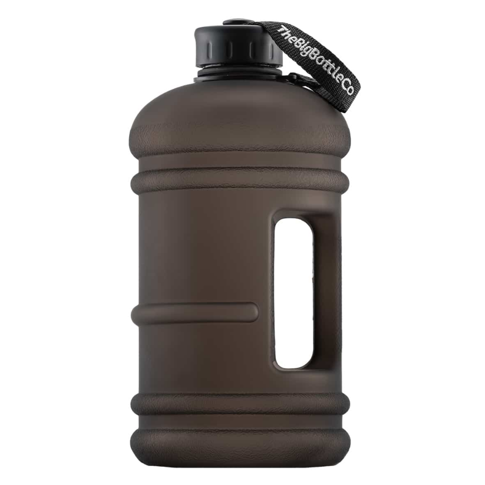 Big Bottle Elite Double Black 2 2 Litre Sports Water Bottle The Big Bottle Co In 2020 Water Bottle Gallon Water Bottle Big Bottle