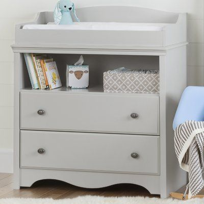 South Shore Angel Changing Table Grey Changing Table Changing