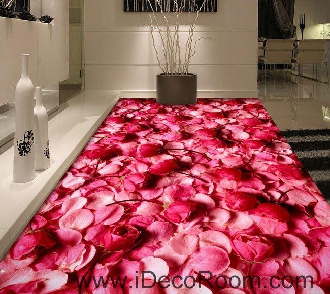 Pink Rose Lover Anniversary Wedding Decor 00092 Floor Decals 3D ...