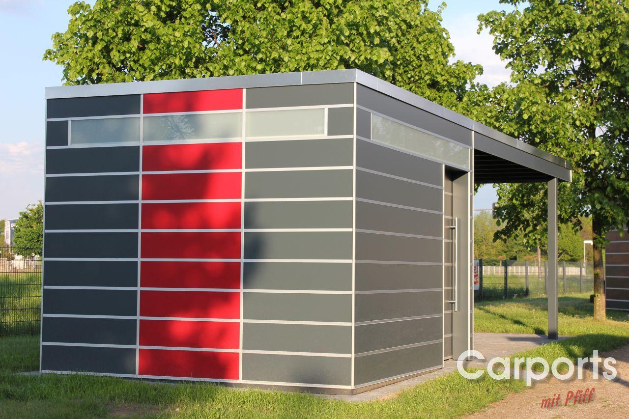Carport Trespa Hpl Mit Abstellraum Carports Hausturuberdachung